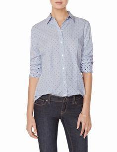 Pinstriped Jacquard Dot Shirt #thelimited