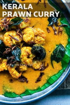 This Kerala prawn curry is a celebration of fresh in season seafood. It's tangy from the kudampuli (pot tamarind) creamy from the coconut milk and mildly hot from the kanthari mulakku (piri piri / bird's eye chillies). Curry Recipes, Seafood Recipes, Indian Food Recipes, Ethnic Recipes, Sweets Recipes, Easy Recipes, Kerala Recipes, Top Recipes, Man Food