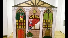 DIY: Carton Puppet Theatre & House for Barbies (English Version)