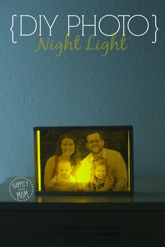 Make a photo night light from a toy container!  Perfect for kids who miss their parents at night or for when you go away on a trip.  #parenting #diy