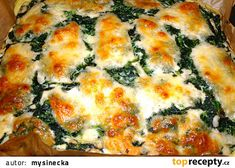 Špenátovo-sýrový koláč recept - TopRecepty.cz Quiche, Breakfast, Pizza, Food, Morning Coffee, Essen, Quiches, Meals, Yemek