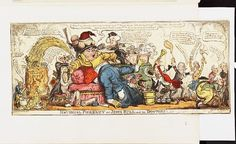 1813[-12-01],Bodleian Libraries,National phrenzy, or,John Bull and his doctors. Caricature of Napoleon I. (British political cartoon) George Cruikshank  (1792-1878)