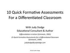 10 quick formative assessments