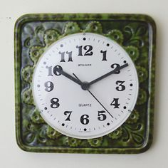 Clock w germany staiger green ceramic clock