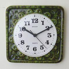 Clock w germany staiger green ceramic clock