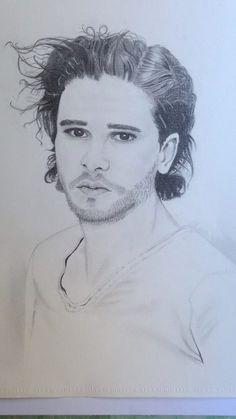 Snow Jonsnow Jon Snow Game of Thrones Nesrin Sert Demir resim orofil portre yüz  face burun kulak göz karakalem sanat