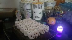 Magic ladies Halloween party at my home ... ❤ lazy cake, marshmallow ghosts  ... zombie