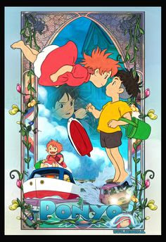 Ponyo on the Cliff by the Sea  by ~jdesigns79