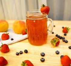 Strawberry & Peach Kompot – A Minty Monday