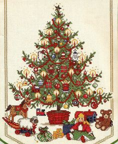 O Tannenbaum - adapted from original artwork by Thomas L. Cathey - Needle Treasures kit #02911 - stitch count 123w x 199h