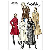 Buy Vogue Women's Coats Sewing Pattern, 8346 Online at johnlewis.com