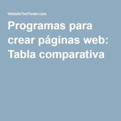 Programas para crear páginas web: Tabla comparativa