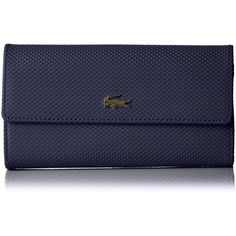 29132cafdf Lacoste Women's Chantaco Continental Wallet Wallet (235 NZD) ❤ liked on  Polyvore featuring bags, wallets, leather wallet, sports wallet, leather  sports bag ...