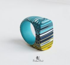 polymer clay ring | this site has excellent photos, but needs to be translated | polymerclayfimo