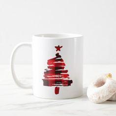 Christmas Tree Coffee Mug Buffalo Plaid Coffee Mug - Xmas ChristmasEve Christmas Eve Christmas merry xmas family kids gifts holidays Santa