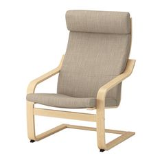POÄNG Armchair IKEA Layer-glued bent birch frame gives comfortable resilience. The high back provides good support for your neck.