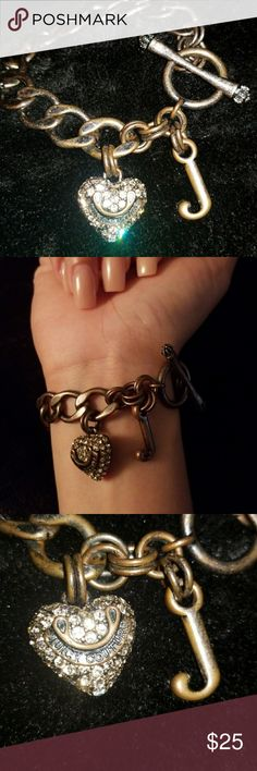 Juicy Couture Heart Bracelet This is such a beautiful bracelet! It has that western but classy look. Gently used and in great condition! Color is like a copper brown. Juicy Couture Jewelry Bracelets