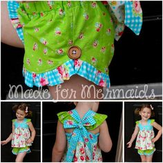 Looking for your next project? You're going to love Lucy Ruffle Shorts PDF Pattern by designer MadeforMermaids.