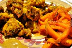 Yummy almond flour chicken nuggets.-use a different GF breading for chicken fingers and be sure not to fry it with gluten