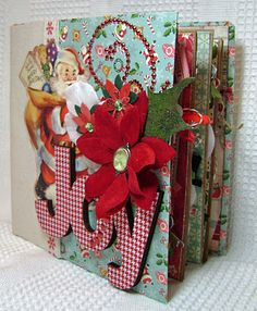 """Chipboard and Envelope Album using October Afternoon """"Holiday Style"""""""