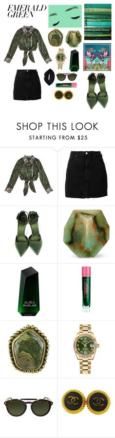 """D u k e"" by bilmereve ❤ liked on Polyvore featuring M.Y.O.B., IRO, Burberry, SoapRocks, Thierry Mugler, Lipstick Queen, Stephen Dweck, Rolex, Gucci and Chanel"