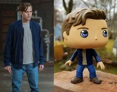 Custom Funko Pop Jack, the Nephilim, Lucifer's son from Season 13 of Supernatural. Played by Alexander Calvert. Custom Funko Pop Jack from Supernatural Funko Pop Supernatural, Winchester Supernatural, Pop Custom, Custom Funko Pop, Alexander Calvert, Pop Dolls, Gifs, Pop Vinyl Figures, Cool Stuff