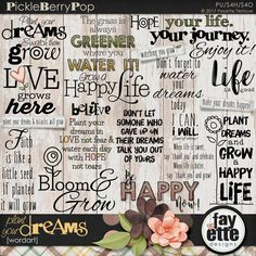 Plant Your Dreams WordArt By Fayette Designs