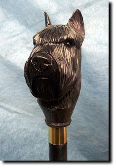 Bouvier Des Flandres Dog Walking Stick Our unique selection of handpainted Dog Breed Walking Sticks is sure to please the most discriminating Dog Lover! Be the envy of everyone with this unique canine