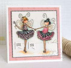 Featuring Stamping Bella's Tiny Townie Fairy Best Friends SKU 557379, available at www.addictedtorubberstamps.com