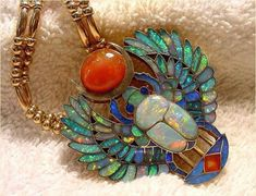"""A long time ago, I was really into Egyptian stuff. - A long time ago, I was really into Egyptian stuff. Now I still am, AND in a band called """"Ankh"""". Tiffany Jewelry, Opal Jewelry, Jewelry Art, Antique Jewelry, Vintage Jewelry, Silver Jewelry, Opal Necklace, Diy Necklace, Collar Necklace"""