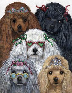 oodles of poodles Poodle Art