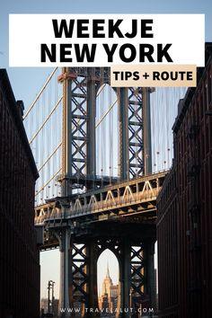 New York: het is een stad die je eens in je leven gezien moet hebben. Maar wat kun je allemaal zien en doen in New York? In dit artikel geef ik leuke tips voor een weekje New York, inclusief een route. Dit zijn de leukste New York bezienswaardigheden! #stedentrip #amerika #noordamerika #newyork Manhattan Bridge, Brooklyn Bridge, New York Travel Guide, Photo D Art, George Washington Bridge, Abandoned Buildings, Travel Photographer, Universal Studios, Luxury Travel