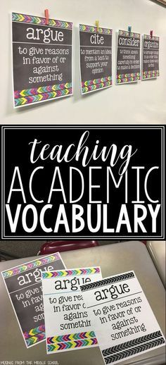 Blog post all about the importance of teaching academic vocabulary!