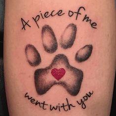 11 Cute Paw Print Tattoos For Women # Tattoo Designs Tatoo Dog, Dog Tattoos, Animal Tattoos, Body Art Tattoos, Small Tattoos, Tatoos, Cat Paw Print Tattoo, Pet Memory Tattoos, Tattoo Baby