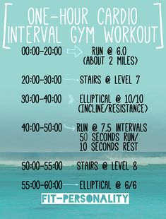 New cardio workout I have been doing about once a... - Fit Personality