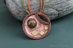 Copper necklace   Wire wrapped necklace  Unakit by StasyaWireWrap