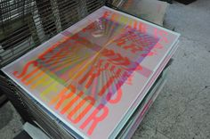 moire silkscreen study by tind ., via Behance  printing #moiré pattern errors / wip with Chris Angelakis typography remixed by Vassilis P. Georgiou #silkscreen / #serigraphy