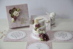 kartka na ślub, stylowa, pudełko, scrapbooking, prezent, papieroffka, exploding box, tort