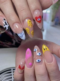 Edgy Nails, Funky Nails, Dope Nails, Trendy Nails, Swag Nails, Simple Acrylic Nails, Best Acrylic Nails, Acrylic Nail Designs, Acylic Nails
