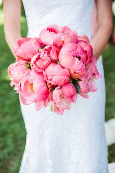 Pretty peonies | Photography: Emily Chastain Photography - www.emilychastain.com  Read More: http://www.stylemepretty.com/2015/04/22/coral-navy-nautical-annapolis-wedding/