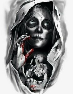 VK is the largest European social network with more than 100 million active users. Skull Girl Tattoo, Skull Tattoos, Leg Tattoos, Body Art Tattoos, Tattoos For Guys, Sleeve Tattoos, Sketch Tattoo Design, Tattoo Sketches, Tattoo Drawings