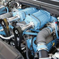 Twin Superchargers = More Horsepower ! Motor Engine, Car Engine, Crate Motors, Performance Engines, Race Engines, Old Fords, Drag Cars, Ford Trucks, Dually Trucks