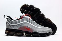 low priced 0f4b7 54456 New Nike Air Max 97 KPU Vapormax 2018 Silver Grey Red Men Shoes