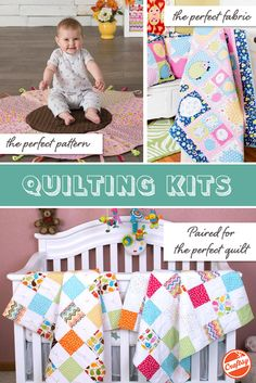 Create the perfect little quilt for that precious little someone. It's easy with Craftsy's quilting kits! Choose your favorite baby-approved design and receive a pattern + all the fabric you'll need.