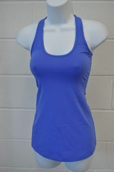 Lululemon Cool Racerback Size 2 Rocksteady Blue Reversible RARE #Lululemon #tank