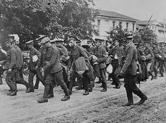 - 1915 - Incoming British prisoners from the Western Front, now in Germany.