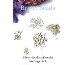 Silver Necklace Findings Pack or Starter Pack