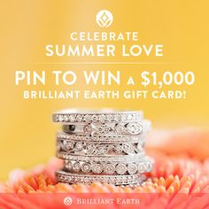 #PintoWin a $1000 Brilliant Earth gift card! Enter here: http://sweeps.piqora.com/CelebrateSummerLove