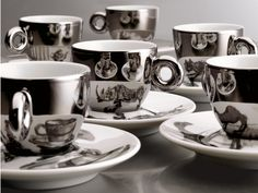 Illy Art Collection, Kentridge's cup and saucer design