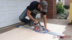using Kreg Accu-cut to break down plywood